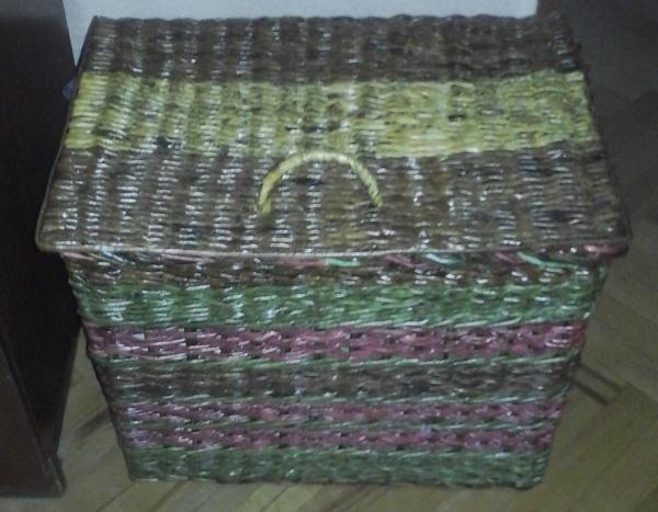 плетение из газет корзины
